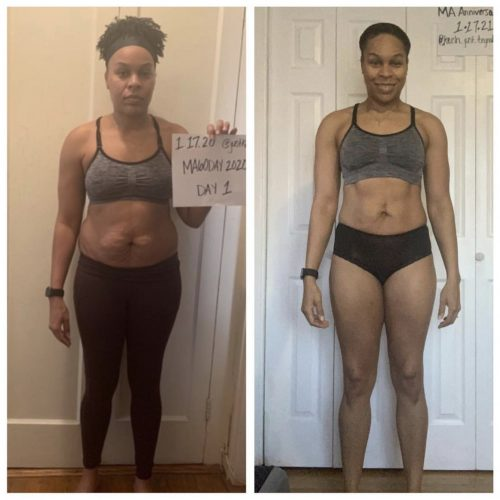 @keish_just_trynabefit one year progress - front